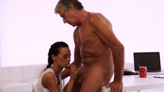 Classic blowjob and anonymous Finally she's got her boss